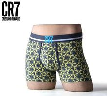 High quality CR7 men's underwear cotton boxers men Black, blue, orange, dark blue Special clearance(China (Mainland))