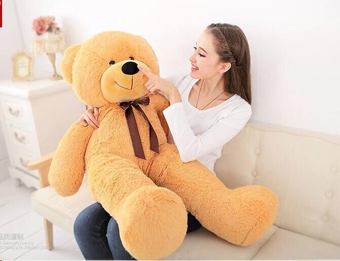 120cm light brown Teddy bear plush toy bear doll throw pillow gift w4823<br><br>Aliexpress