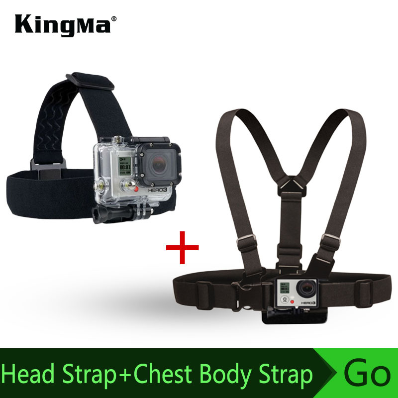 Harness Adjustable Elastic Chest Belt+Head Stap Mount Strap w/ Plastic Buckle for Xiaomi yi Gopro Hero 4 3 3+ 2 Black Edition(China (Mainland))
