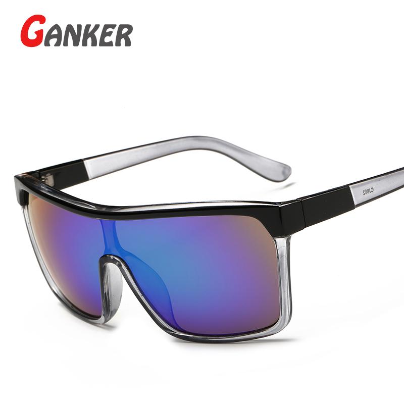2016 New GANKER Wholesale General Women Men Sunglasses Big Size Frame Anti-Reflective UV400 Sun Glasses Hot Sale Fashion Eyewear(China (Mainland))