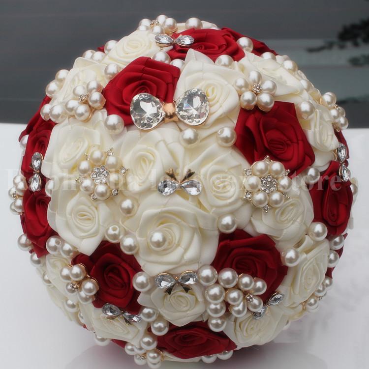 Order Silk Bridal Bouquet Online Get Cheap Stitch Aliexpress Alibaba