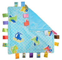Taggies  Little Plush Blanket Baby Comforting Blanket baby taggies toys Grasping  fantoche towel Blue Vehicles Polka Dot