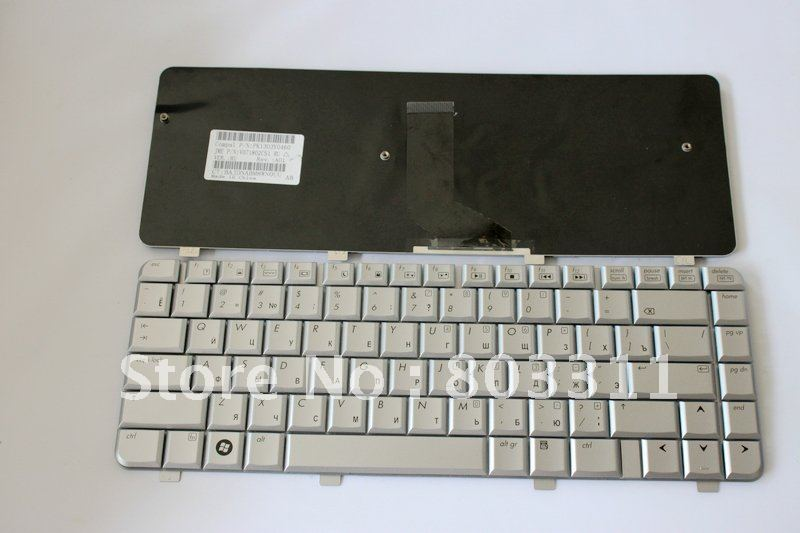 Free Shipping+ Silver Colour+Russia(RU) Layout Brand new laptop keyboard for HP DV4 Service(China (Mainland))