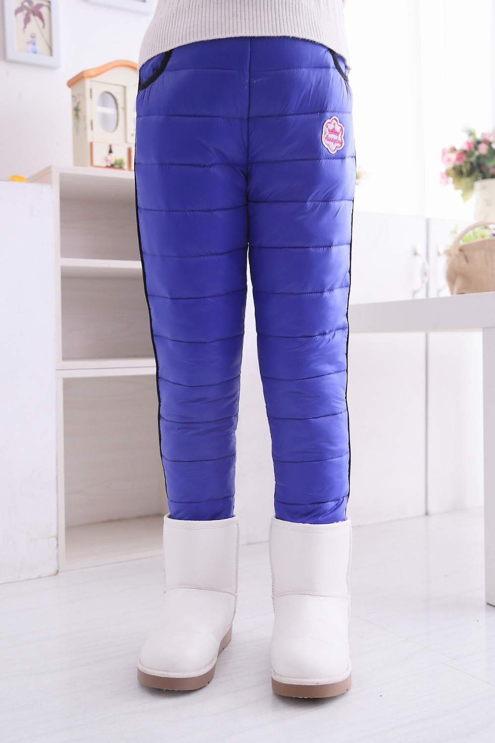 new hot sale top quality children down pant warm and thick windproof kids down trousers girls winter down pant 20150719(China (Mainland))