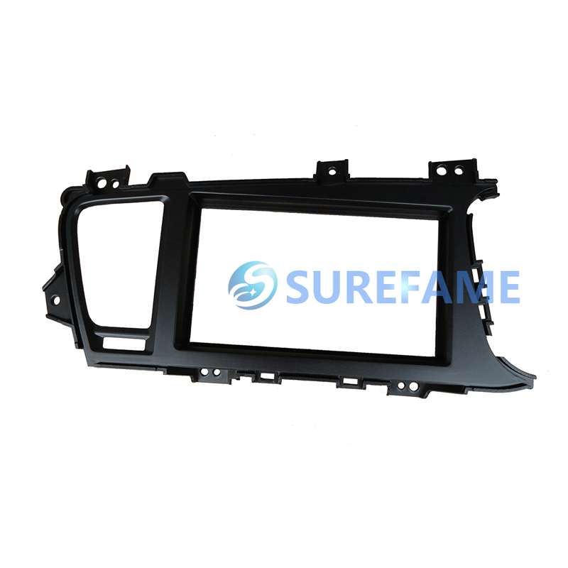 Free shipping 2Din Car Audio Frame for KIA Optima K5 RHD Dash Kits Stereo Fascia Trim Panel DVD Kit Facia Kit Cover Double Din(China (Mainland))