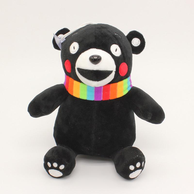 stuffed toys 21cm*18cm Japan lovely cute KUMAMON kawaii valentine day bear plush pillow plush bear dolls birthday gift(China (Mainland))