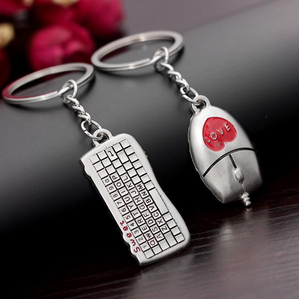 korean fashion design keyboard and mouse gifts for men key rings woman handbag key chain for car. Black Bedroom Furniture Sets. Home Design Ideas