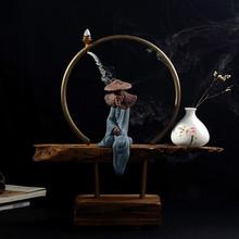 Chinese ceramics creative incense burner home furnishing articles sitting room Chinese zen desktop decoration(China (Mainland))