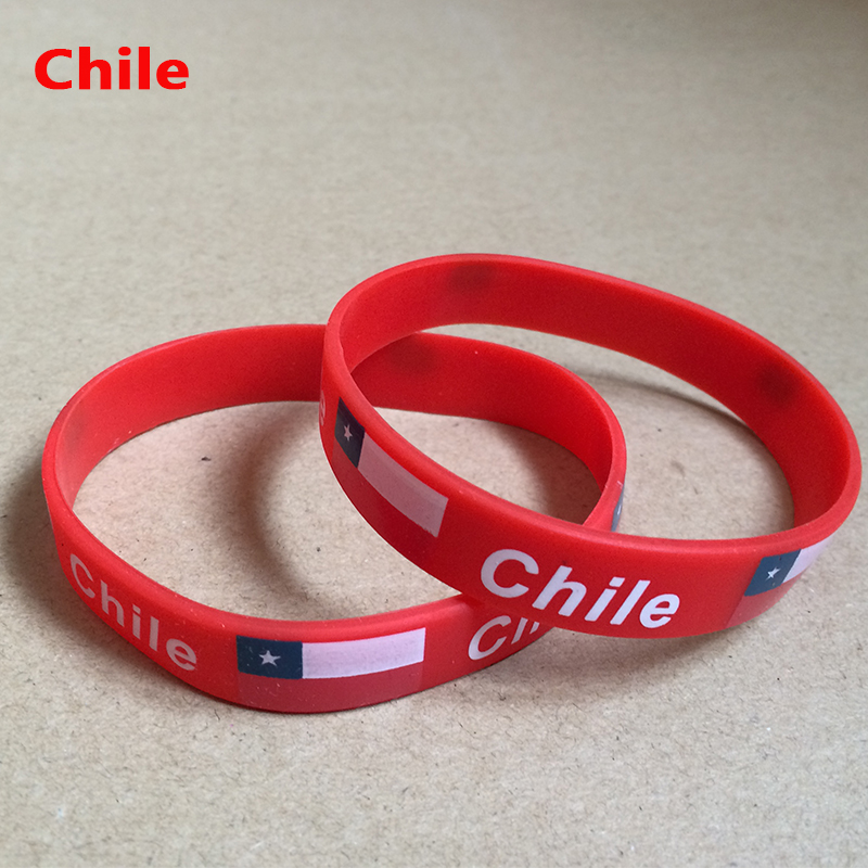 Chile Sports Bracelet Chile Fans Silicone Wristbands Chile Football Basketball Baseball Cheer Supplies Souvenir(China (Mainland))