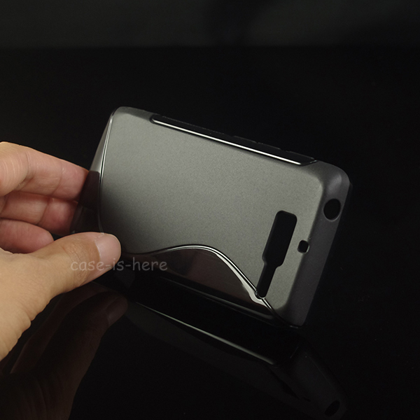 Soft S-Line Wave Anti-skid TPU Gel Cover Case Skin for Motorola RAZR D3 (8 Colors Available)