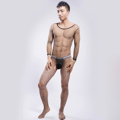 2016 Sexy Socks Men Socks Transparent Body stockings Gay Erotic Underwear Men Open-crotch Pantyhose Bodyhose On Sale stocking