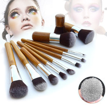 11 Pieces Foundation Professional Face Care Facial Styling Tools Accessories Cosmetics Makeup Kabuki Brush Set Make Up Burshes