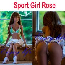 NEW HOT 140cm Brown Rose Top quality japanese silicone sex doll, full body skeleton doll, oral adult toys with vagina real pussy