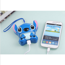 New Luxury Cartoon Stitch Electric Power Bank 12000mAh High Quality External Challenge Po mobile Powerbank portable battery