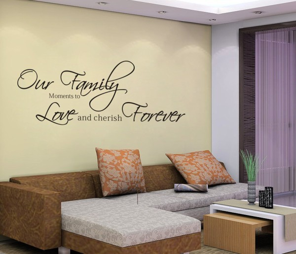 Our Moments to Family Wall Decal Quote Wall Lettering Art Words Wall Sticker Home Decor