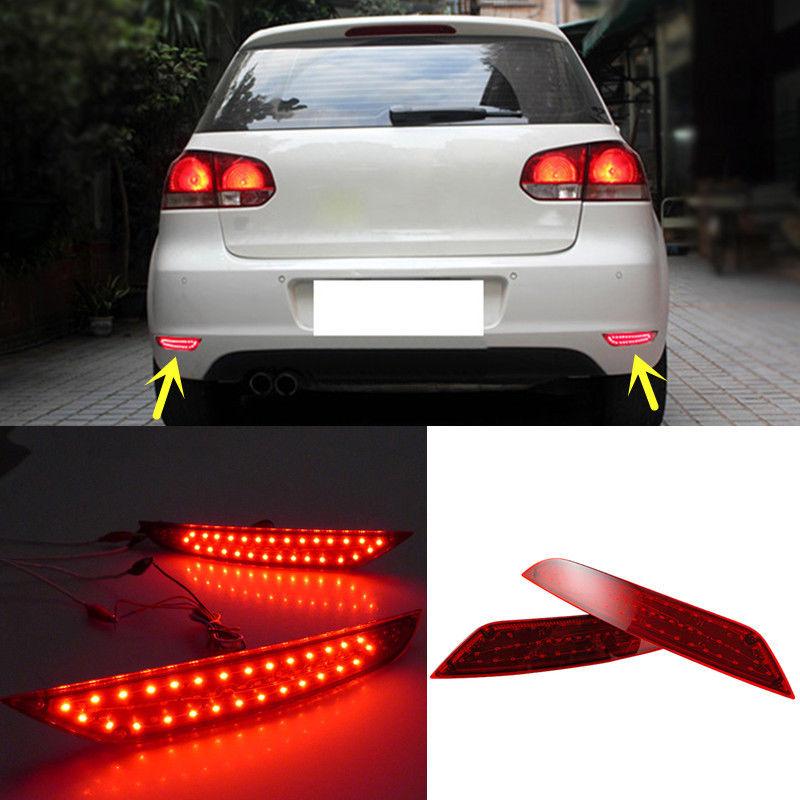 For Volkswagen Golf MK6 Rear Bumper Reflector Tail Warn Brake Turn Fog Light,Brake Light Turn Signal Light Night Running Light(China (Mainland))