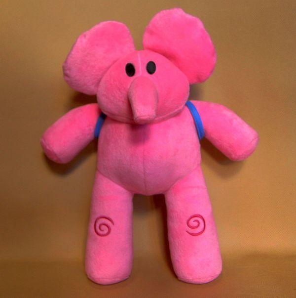 2014 Top Fashion New Design Bandai Pink Kids Cartoon Soft PATO Pocoyo ELLY plush doll 12inch 30cm for christmas gift