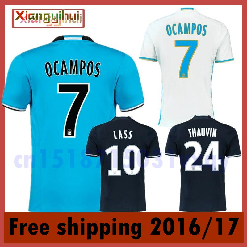 New Olympique de Marseille 2016 2017 home away soccer jerseys survetement football maillot de foot(China (Mainland))