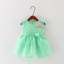 20165 Kids baby girls dresses summer dress princess dress veil new female baby vest dress 0-1-2-3 years(China (Mainland))