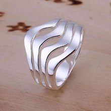 Water Waves Ring 925 silver ring,high quality ,fashion jewelry, Nickle free,antiallergic qwuv evad