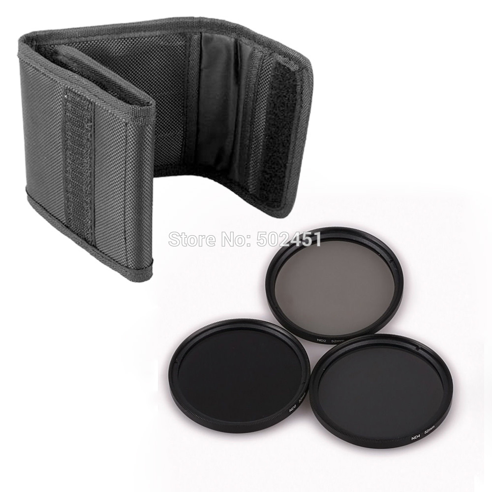 hot 2014 NEW 3 pcs 77 mm Neutral Density ND2 ND4 ND8 Lens Filter Kit Set ND+2+4+8 + Cloth Bag Case For Canon Nikon Sony Camera(China (Mainland))