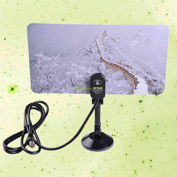 Digital Indoor TV Antenna HDTV DTV Box Ready HD VHF UHF Flat Design High Gain #2 EL4514(China (Mainland))