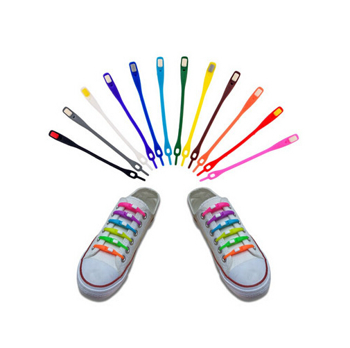 12 pcs/Lot Fashion Products Colorful Elastic Shoelaces (No need to tie) Lazy Shoelaces For Sneakers(China (Mainland))