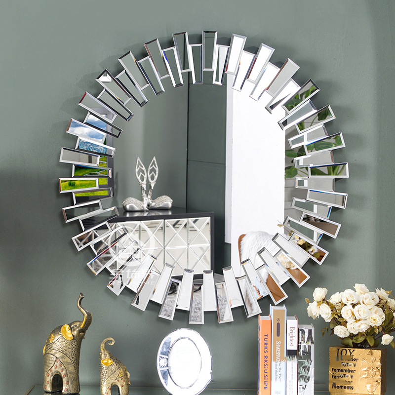 Modern round wall mirror glass console mirror venetian mirror wall decorative mirrored art(China (Mainland))