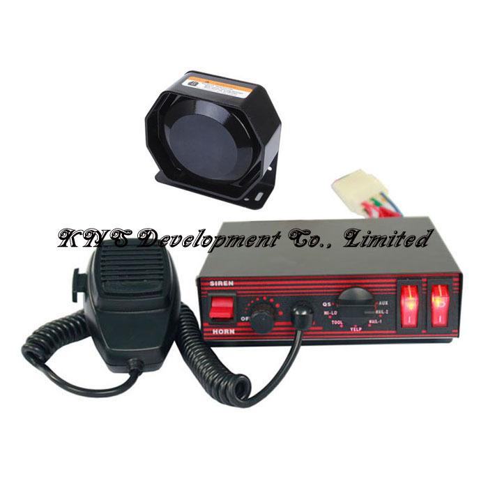 CJB-200E 100W Power Car Siren, DC12V, 8 tones, Microphone, 2 Light switches PA alarm system (Price Siren+ 1 Speaker) - KNS Development Co., Limited store