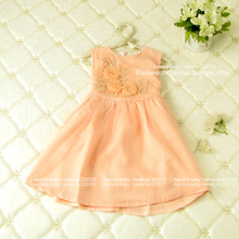 3d flower customes kids toddler tutu dresses,wholesale fall fashion 2015 girls clothing, 5 pcs/lot(p2459011),fit for 2-6 years