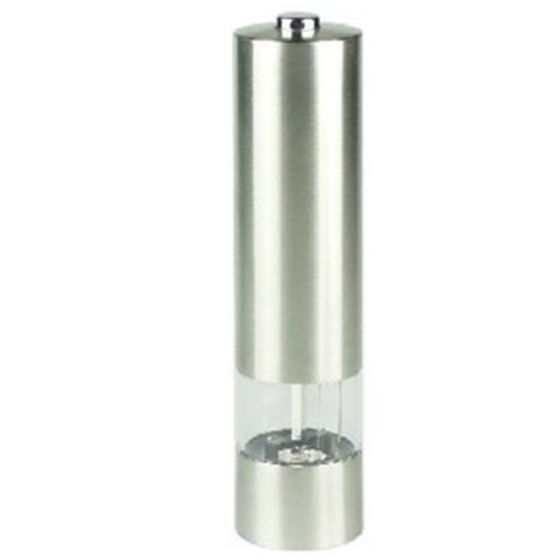 Stainless Steel Electric Salt Pepper Mill Spice Grinder Muller Kitchen Tool freeshipping - Lovely Person store