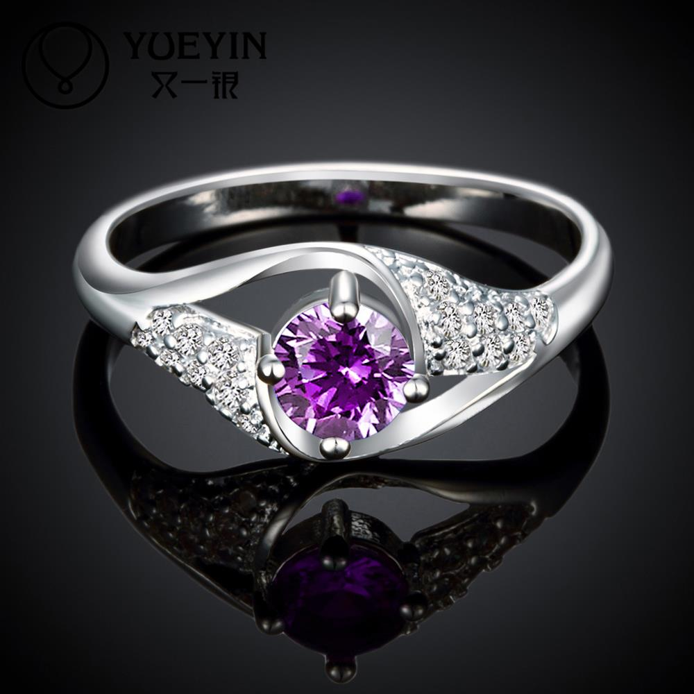 Low treatment honourable purple fascinating flashlight decorative pattern ring designs for women R022-C 925(China (Mainland))