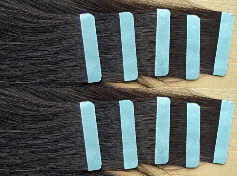 Wholesale 1 sheets 12pcs 4cm*0.8cm Super Hair Tape Adhesive Double Side Tape for Remy Human Hair Tools for Wig Extension