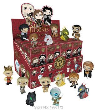NEW 1pcs Game of Thrones BOX Mini Mystery Funko Figure Drogon WHITE WALKER NED ROB ARYA STARK JON SNOW DAENERYS