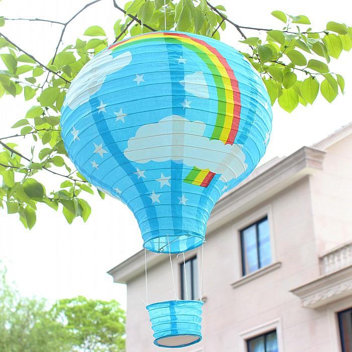 5pcs/lot 12 inch 30cm Rainbow Wedding Chinese Paper Lantern Hot Air Balloon Wedding Party Decor Lanterns Gift Craft(China (Mainland))