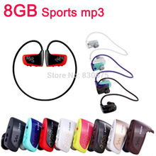Hot High quality 8GB Sport MP3 player W262 Stereo Headset MP3 headphone for sony walkman mp3 player free shipping(China (Mainland))