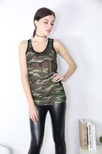 Wholesale Summer High Elastic Sports Camouflage Vest Female Tanks Dropshipping SSH012(China (Mainland))