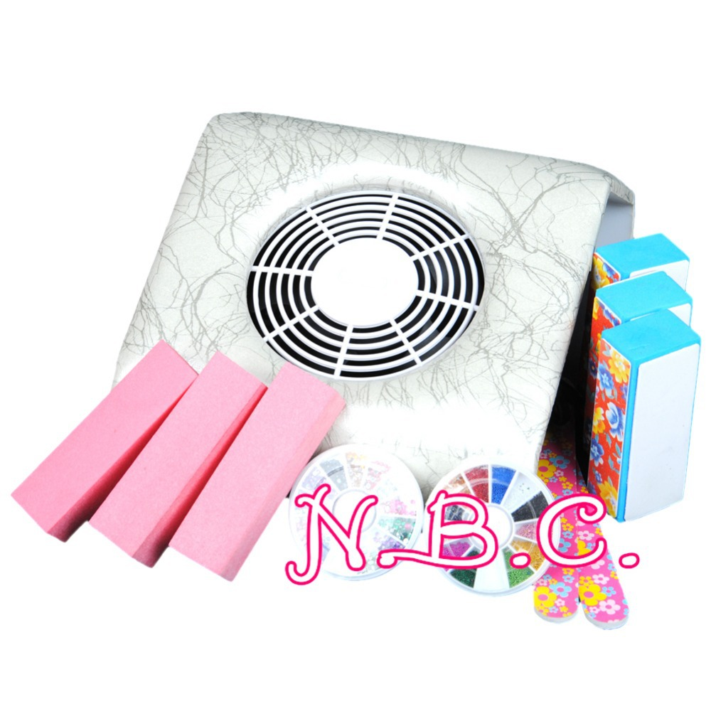 2015 New Professional White Dust Suction Collector Manicure Machine Block Buffer Acrylic Nail Art Tools(China (Mainland))