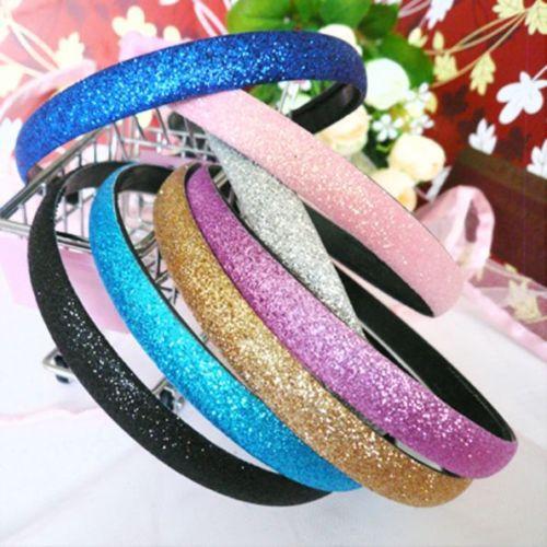 Hot Lady Girls Glitter Sparkly Headband Hair Band Fashion Alice band Accessories(China (Mainland))