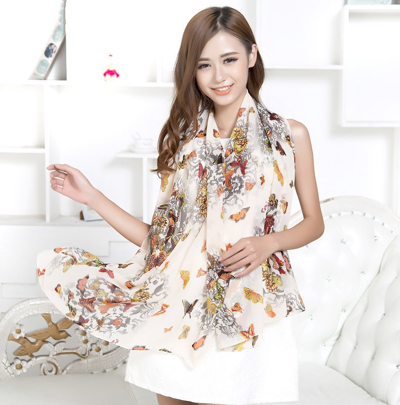 Chiffon silk scarf 2015 scarf female summer and autumn all-match scarf long design air conditioning cape silk scarves shawl(China (Mainland))