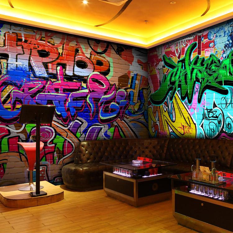 Graffiti personalizzato murales camere bar ktv corridoio for Carta da parati bar