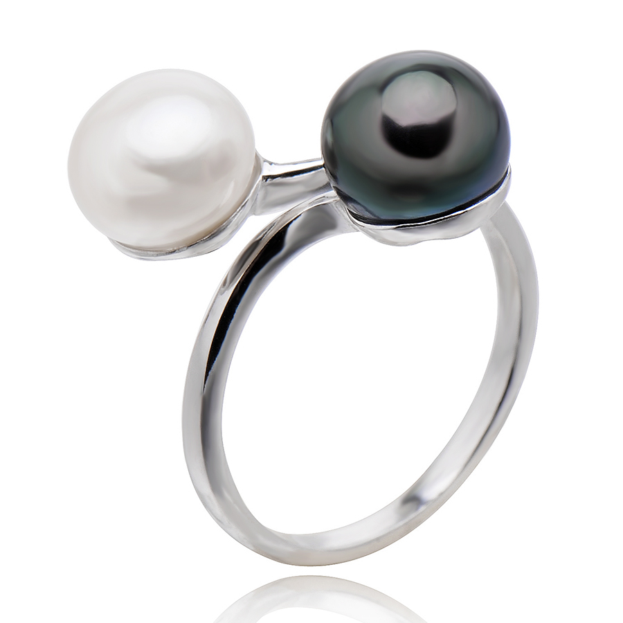The New Design Trendy Style Women's Ring,8-9mm Bread-shaped Natural Freshwater Pearls,100% 925 Sterling Silver Jewelry(China (Mainland))
