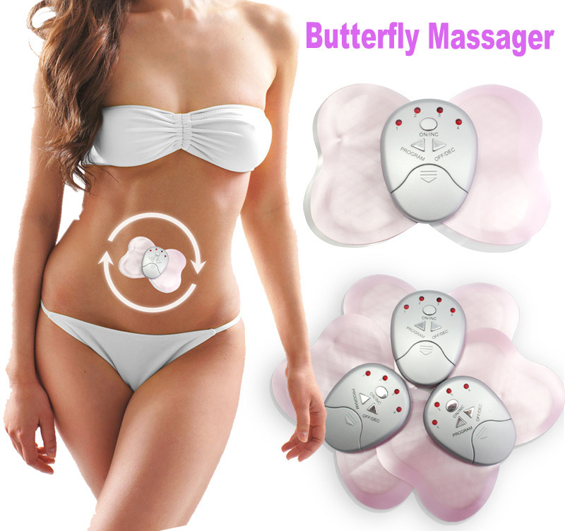 New Butterfly Design Body Muscle Massager Electronic Slimming Massager for Fitness(China (Mainland))