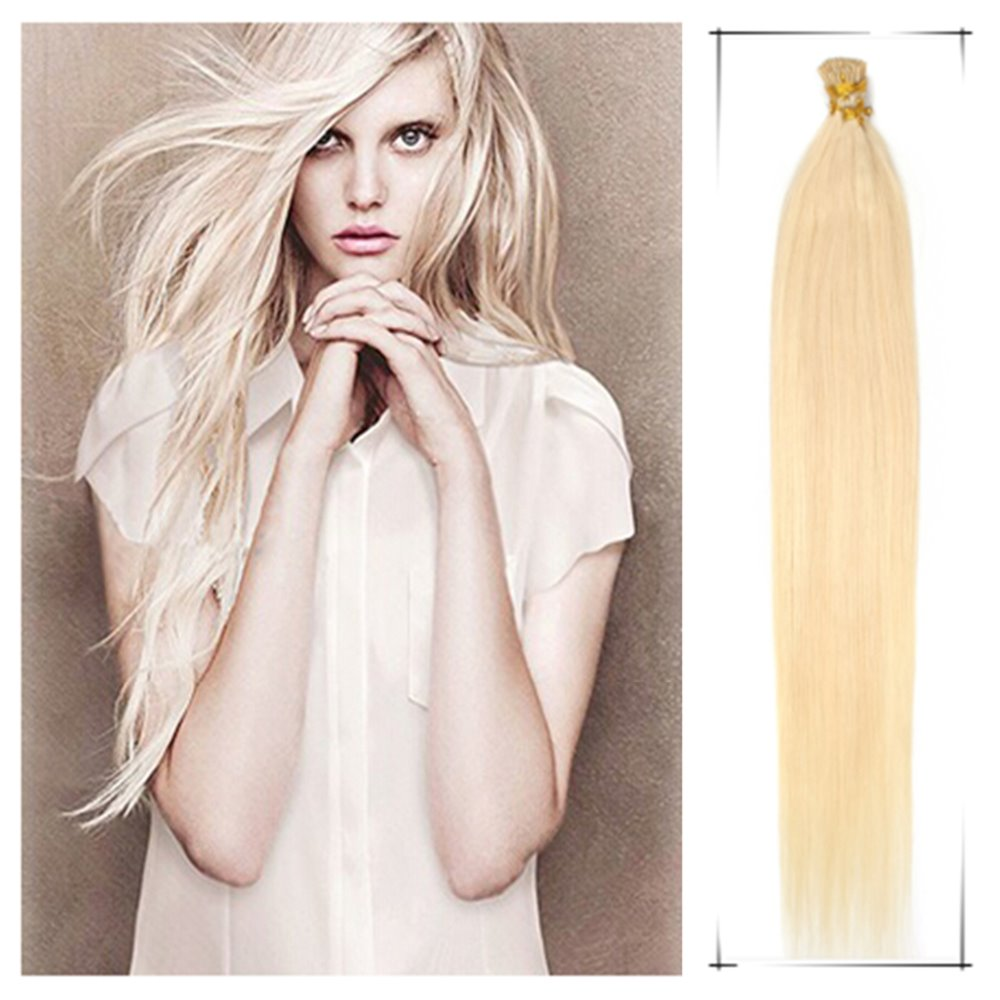 """Wholesale Brazilian Virgin human pre bonded hair Extension Straight 24""""/55cm 50g/Lot+Free Beads Hair Weave Rose Hair Products(China (Mainland))"""
