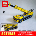 NEW 2606pcs LEPIN 20004 technic series Motor power mobile crane MK Model Building blocks Bricks Compatible