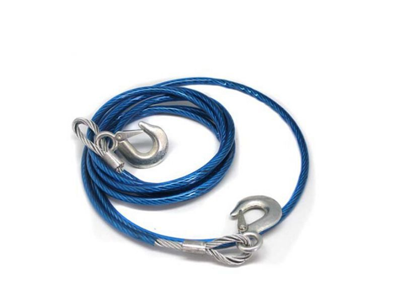 Tow Car Tow Strap 4m Max Load 5t Tow Hook Strap Diameter 10mm Steel Wire Material Truck Tow Rope Freeshipping.(China (Mainland))