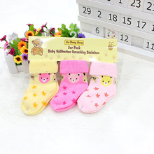 Baby Socks cotton Baby  autumn and winter socks newborn floor socks For 3-12 months ( 3 pairs/lot) baby socks Free shipping
