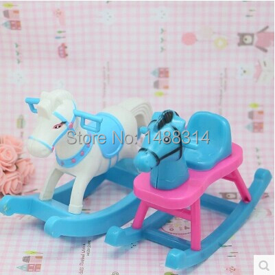 Free Shipping 2014 fashion toys doll Rocking horse for barbie doll ,best gift for girls(China (Mainland))