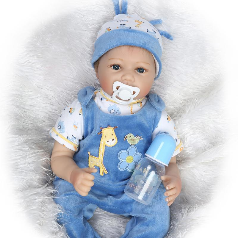 Soft Body Silicone Reborn Baby Dolls Toy Exquisite Real Touch Newborn Boy Babies Collectable Doll Girls Birthday Gift Present(China (Mainland))