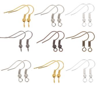 100pcs/lot DIY Earring Findings Earrings Clasps Hooks Fittings DIY Jewelry Making Accessories Iron Hook Earwire Jewelry
